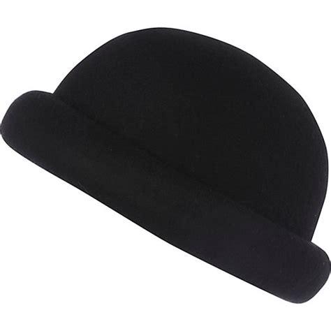 black rolled brim bowler hat hats accessories