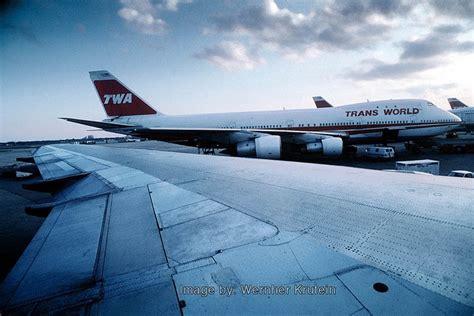 trans world airlines twa boeing 747 100 f kennedy international airport jfk new york