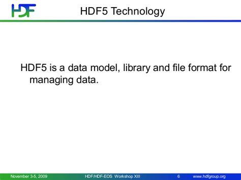 file format hdf5 hdf5 intro