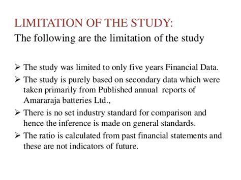 limitation of cross sectional study ratio analysis project presentation