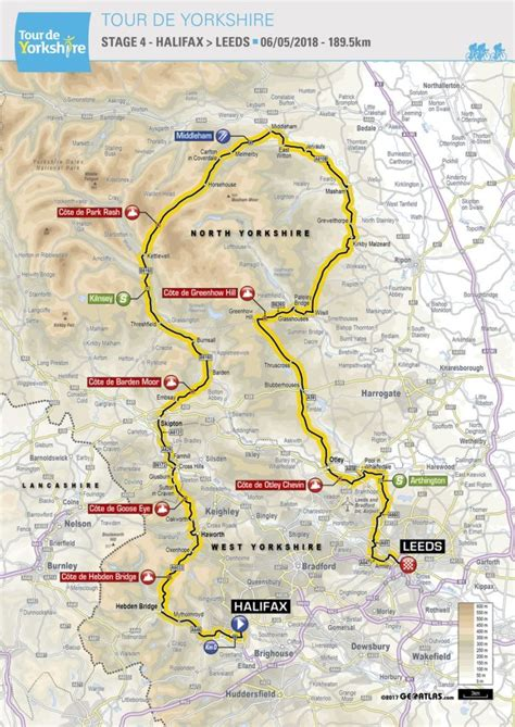 the 2017 tour de yorkshire see maps of the routes tyne tees itv tour de yorkshire 2018 svelato il percorso completo