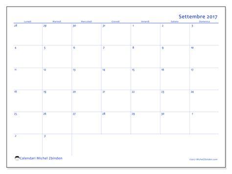 Calendario Settembre 2017 Calendario Per Stare Settembre 2017 Vitus Italia