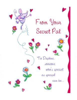 secret s day secret pal greeting card s day printable card