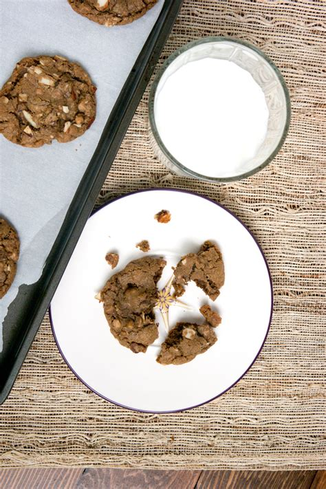 Coffee Toffee coffee toffee almond cookies