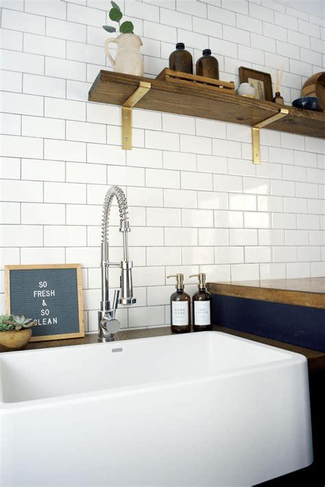 modern navy laundry room reveal brepurposed