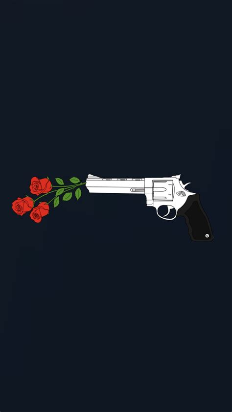 wallpaper for iphone 5 guns kill them with roses wallpaper made by laurette