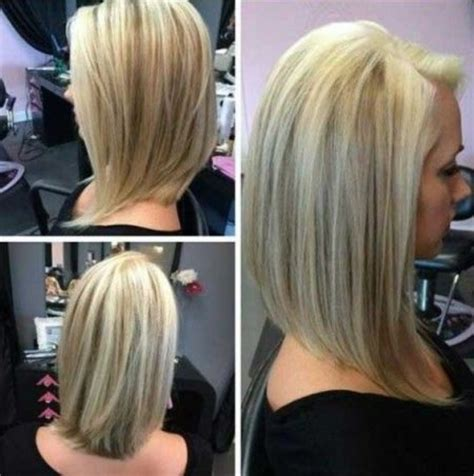 long angled bob hairstyles with back and side views and bangs long bob back www pixshark com images galleries with a