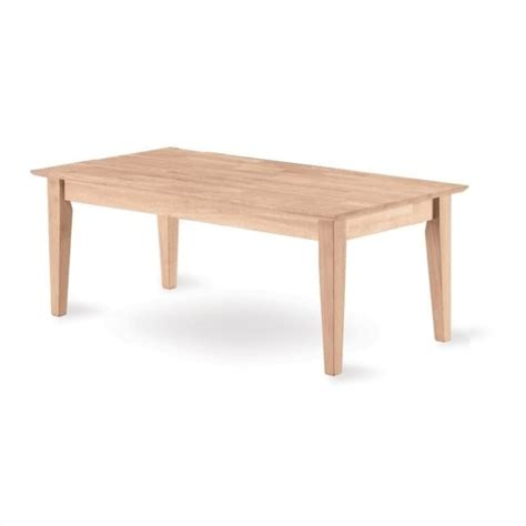 Shaker Coffee Table Whitewood Shaker Unfinished Coffee Table Ot 9tc