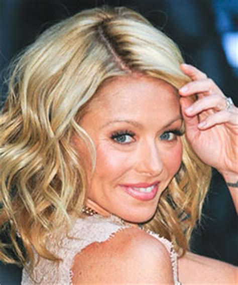 kelly ripa lob shoulder length celebrity hairstyles