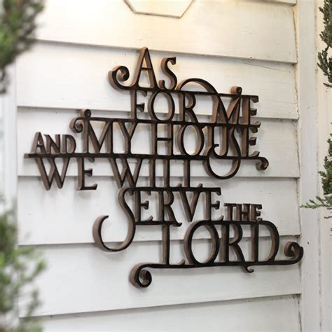 as for me and my house wall art as for me and my house we will serve the lord sign quotes