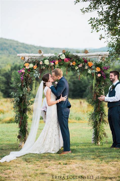 colorful whimsical henniker backyard wedding erika