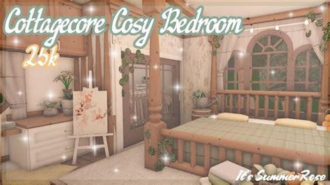 cottagecore cosy bedroom bloxburg speed build
