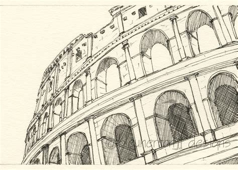 sketchbook rome rome italy sketch coliseum rome drawing print