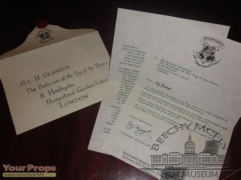 Hogwarts Acceptance Letter Hermione Harry Potter And The Philosopher S Hermione Granger S 1st Year Hogwarts Letter The