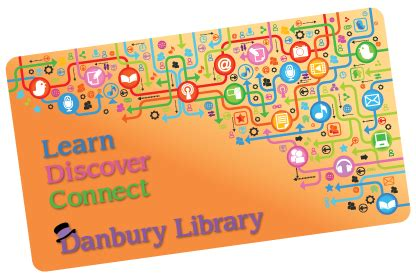 library card template png danbury library imagine discover explore