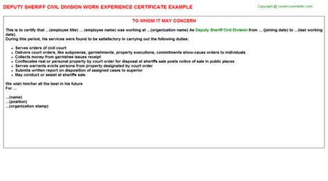 experience letter format draftsman experience certificate sle for draftsman gallery