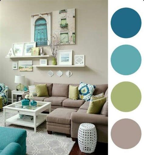 green color schemes for living room beatiful blue green and taupe living room casa