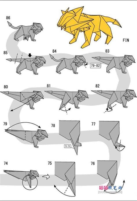 tutorial origami pdf origami lion a6 paper pinterest origami lions and easy