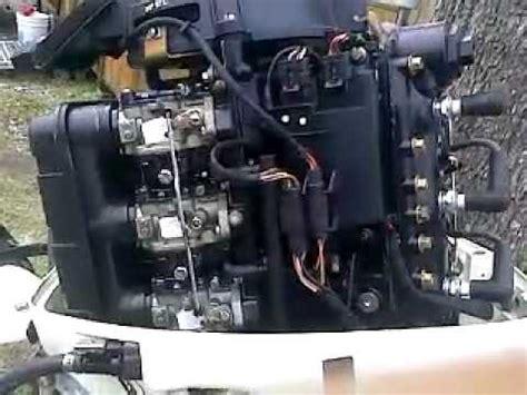 2001 25hp johnson 3 cylinder youtube