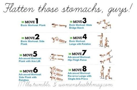 flat stomach exercise chart fit