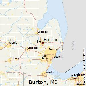 Truck Accessories Flint Mi Burton Michigan Map Michigan Map