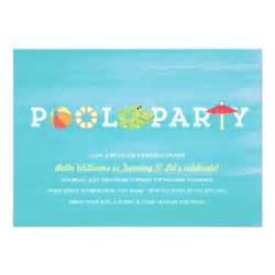 birthday pool invitation 5 quot x 7 quot invitation card zazzle