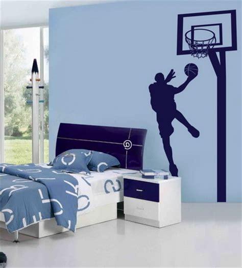nba wall murals blue wall themes with nba basketball wall murals for boys