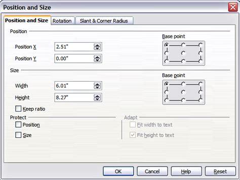 comment faire un graphique sur libreoffice impress d 233 placement redimensionnement et rotation d un objet