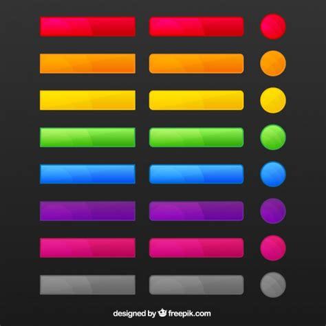 scarica web gratis pulsanti web colorati scaricare vettori gratis