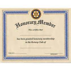 honorary member certificate national award services