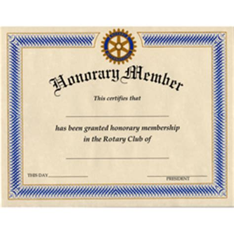 honorary member certificate template best free home