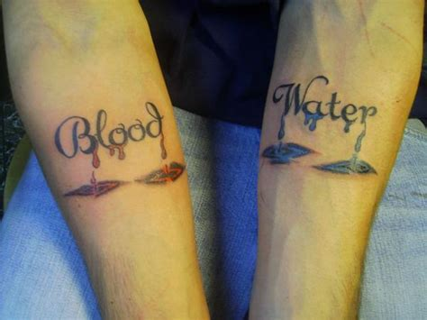 blood is thicker than water tattoo blood is thicker than water picture