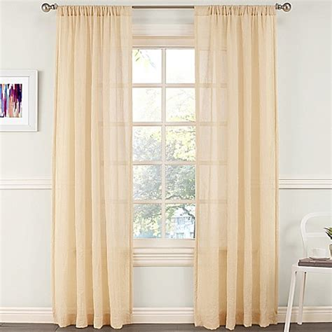 coral sheer curtain panels buy grove 63 inch crushed sheer window curtain panel in
