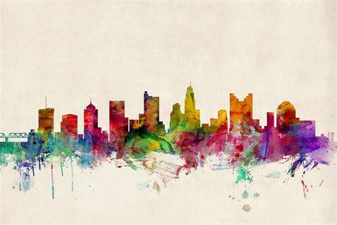 prim painting blog columbus ohio painting company blog columbus ohio skyline digital art by michael tompsett