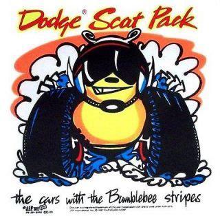 1968 1969 1970 dodge scat pack club window bee decals