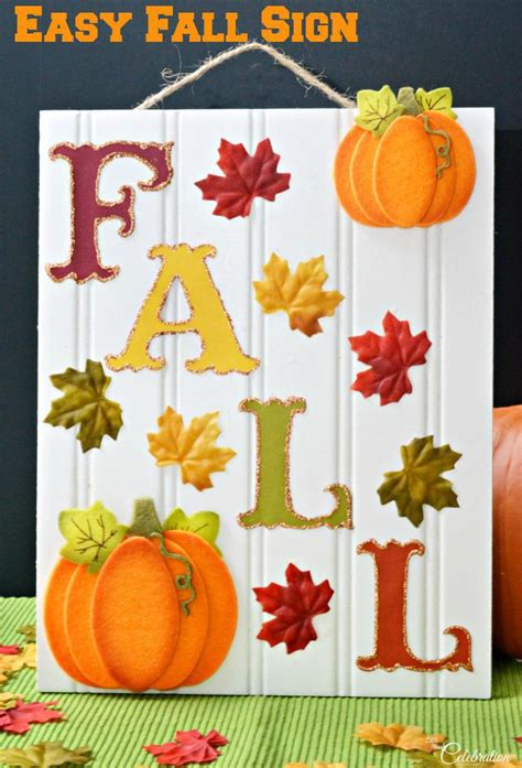easy fall craft for easy fall sign miss celebration