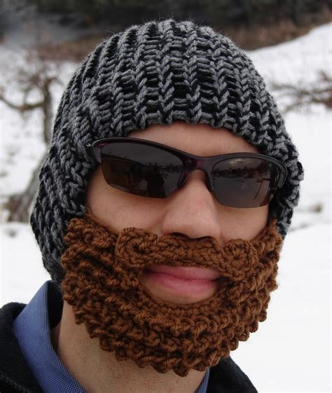 knitted beard hat kitchen and craft adventures needle craft envy