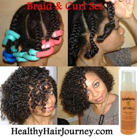 hairstyles with curling rods partial braided with flexi rod impeccable pinterest