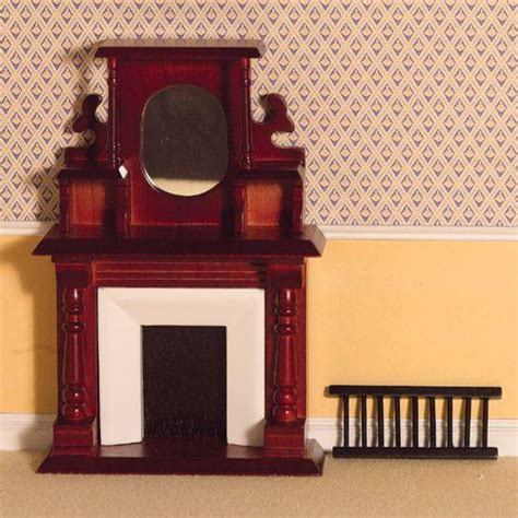 the dolls house emporium fireplace with overmantel