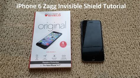 tutorial video iphone 6 tutorial iphone 6 zagg invisible shield youtube