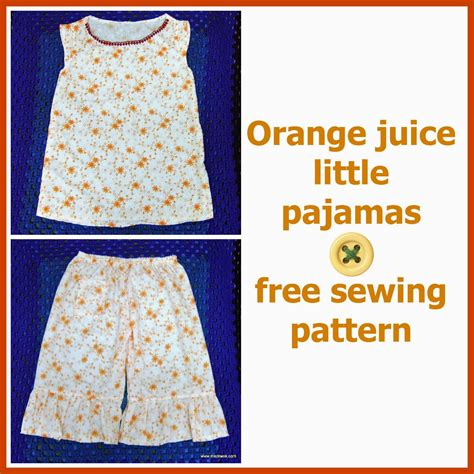 free nightshirt pattern be a crafter xd quot orange juice quot little pajamas free