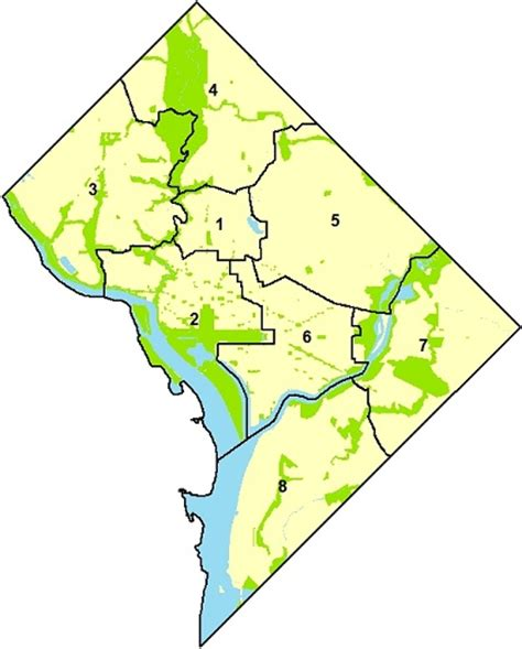 washington dc map of wards select 2012 ward profile neighborhoodinfo dc