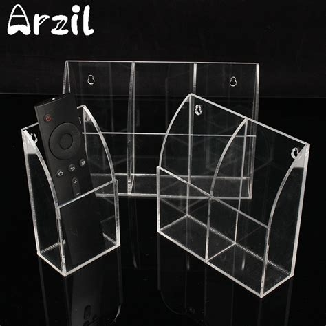 Cl Wall Rack Organizer by Transparent Acrylic Tv Remote Box Holder Wall