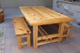 Wooden Patio Table Plans Rustic Outdoor Table Breadboard Ends With The Domino The Wood Whisperer Outdoor Living