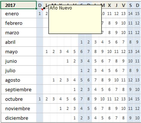 Mi Calendario 2017 Descarga El Calendario 2017 En Excel Excel Total