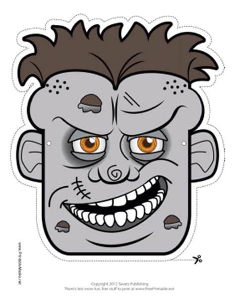 printable zombie mask printable male zombie mask mask