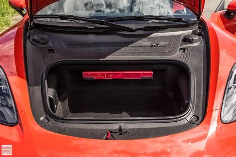 porsche trunk in front first drive porsche 718 boxster s