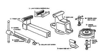 bench vise replacement parts bench vise parts diagram bench free engine image for