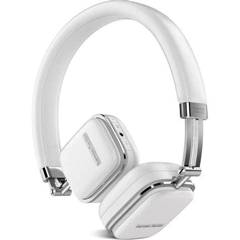 Headset Bluetooth Harman Kardon harman kardon soho bluetooth on ear headphones hksohobtwht b h