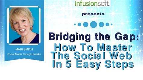 5 simple steps to mastering mari smith keynote at infusioncon bridging the gap how to master t